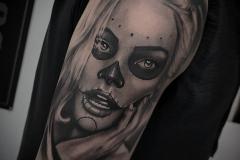 Tatuaje Catrina Realista