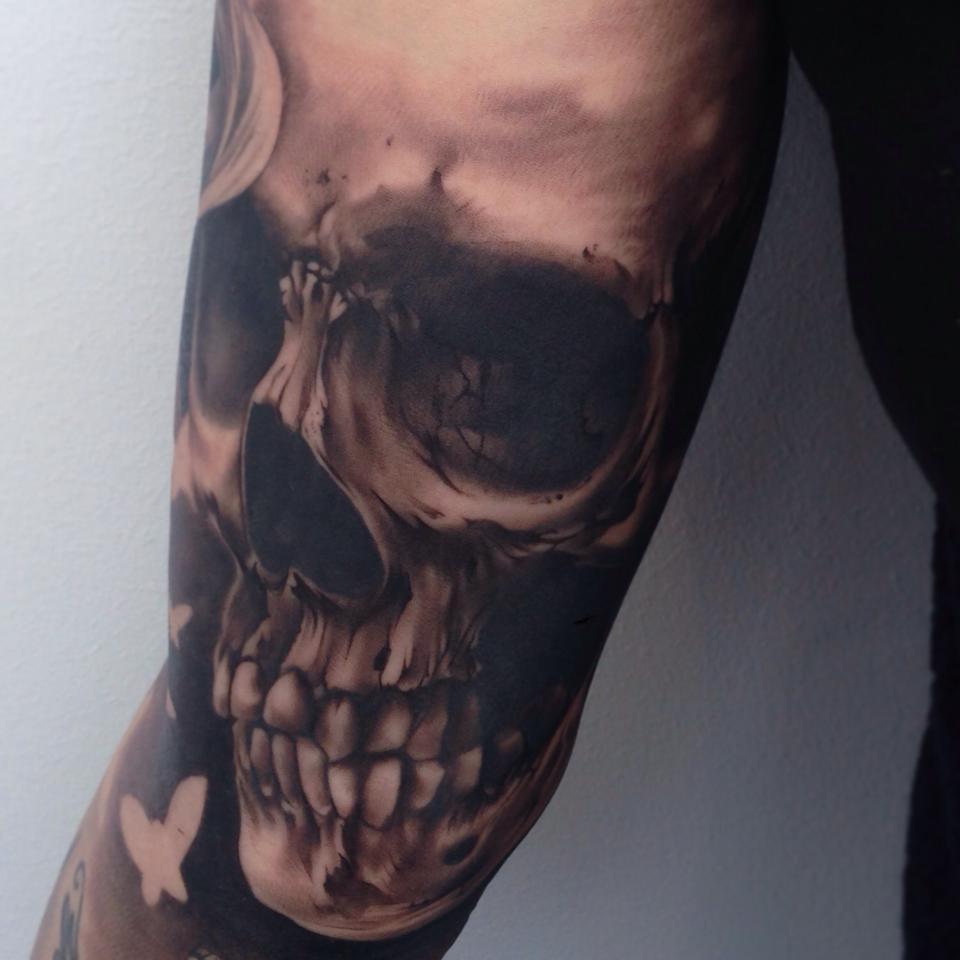 Tatuaje Calavera realista