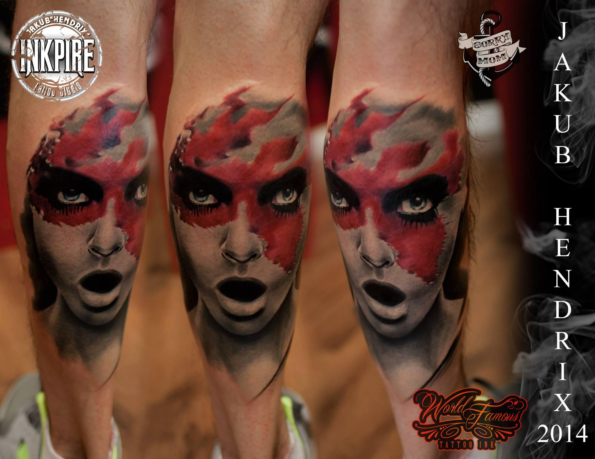 Tatuaje realismo por Jakub Hendrix