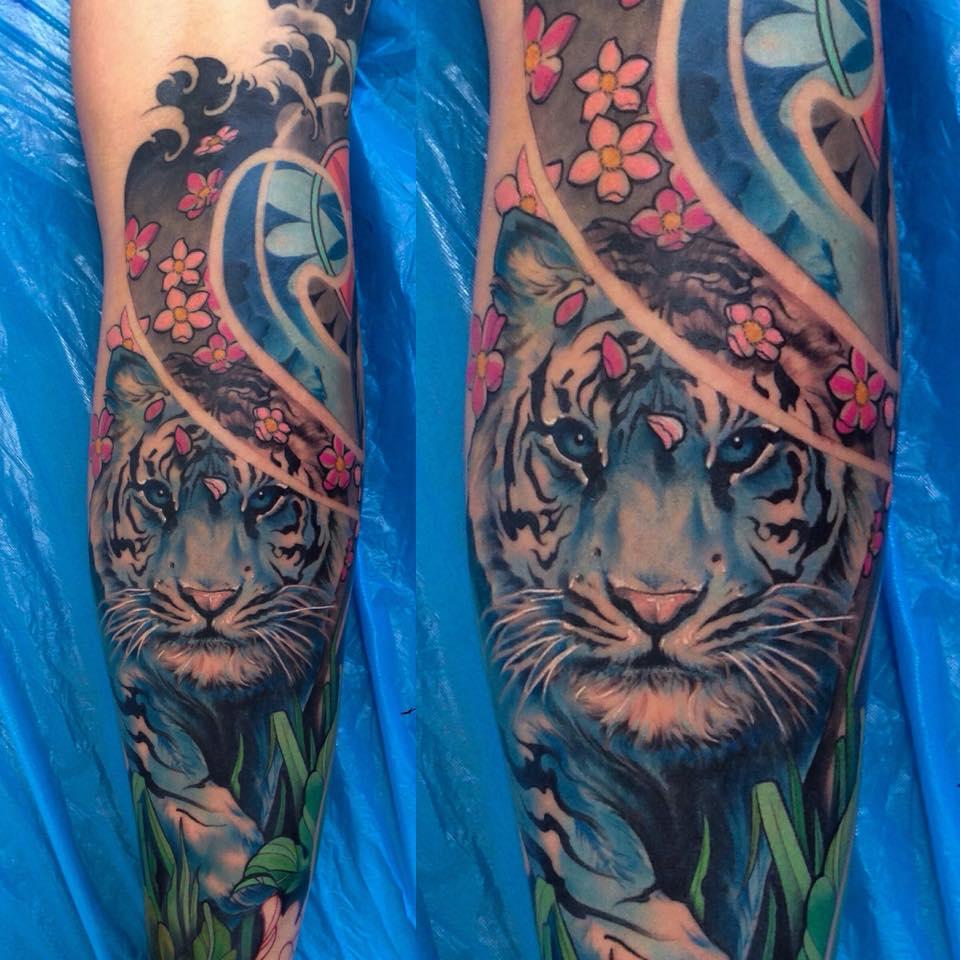 Tatuaje tigre blanco