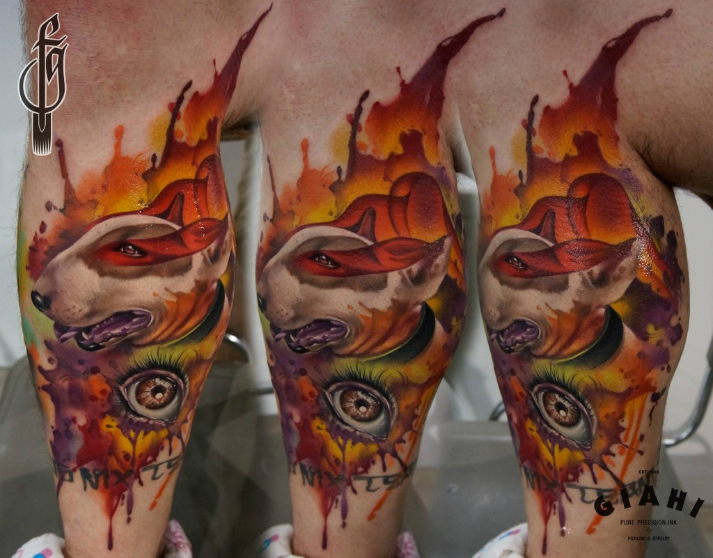 Tatuaje Bull terrier color