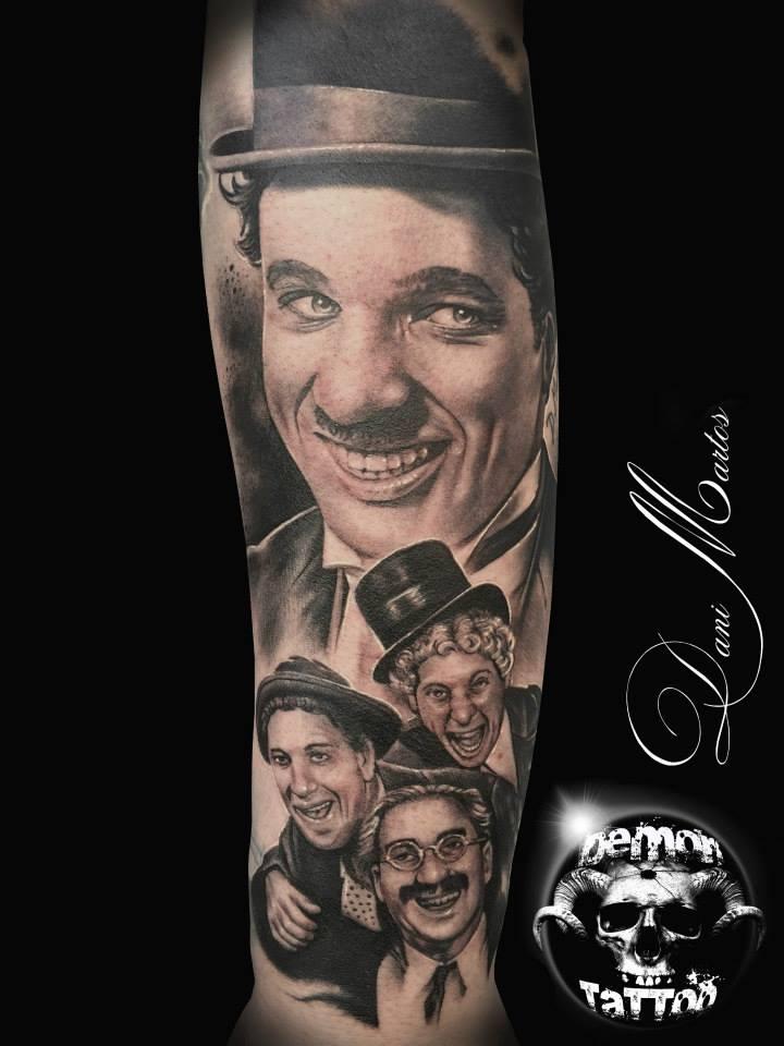 Tatuaje realismo Hermanos Marx