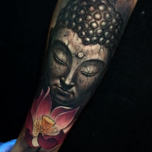 Tatuaje Buda Realismo