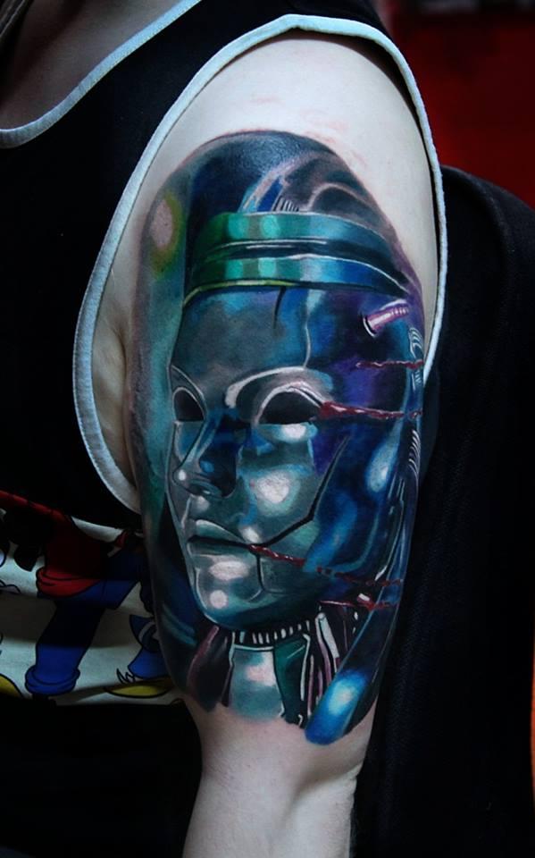 Tatuaje realismo robot