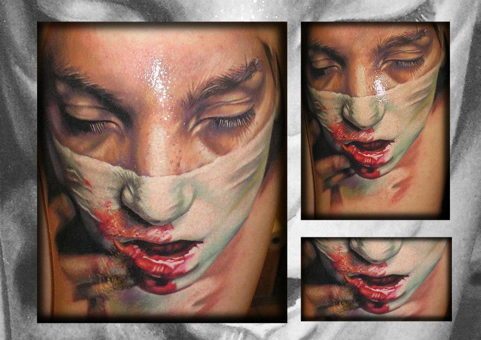 Tatuaje realismo terror
