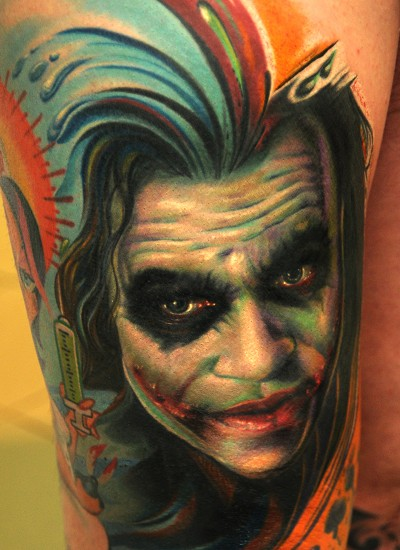 Joker Tattoo realismo andy Engel