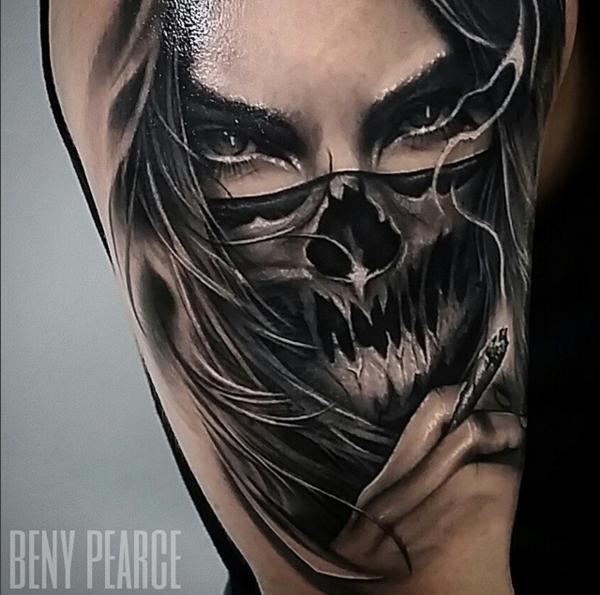 Tatuaje realista chicana beny pearce