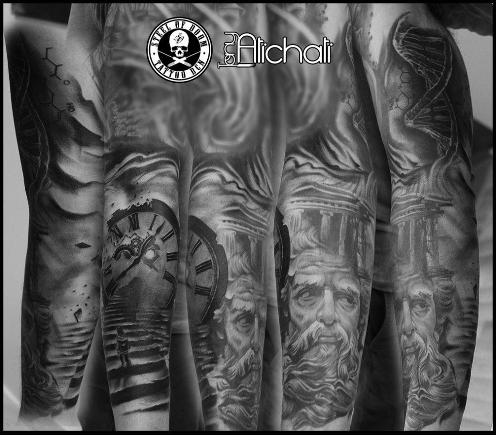 Tattoo de realismo en Barcelona Steel of Doom