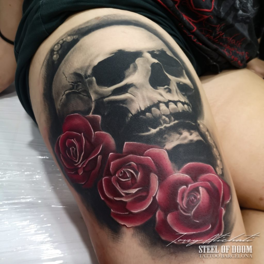 Tatuaje Calavera en Barcelona