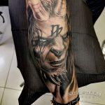 Tatuaje realista barcelona Demonio