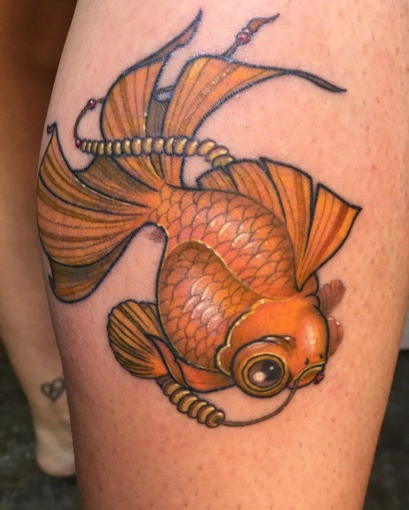 Tatuaje New School Pez por Silver One