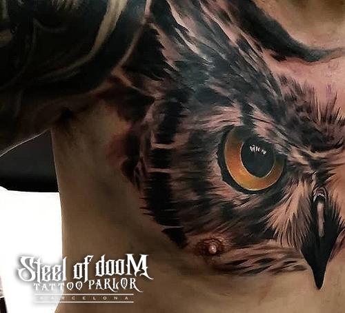 Tattoo buho por Tony atichati